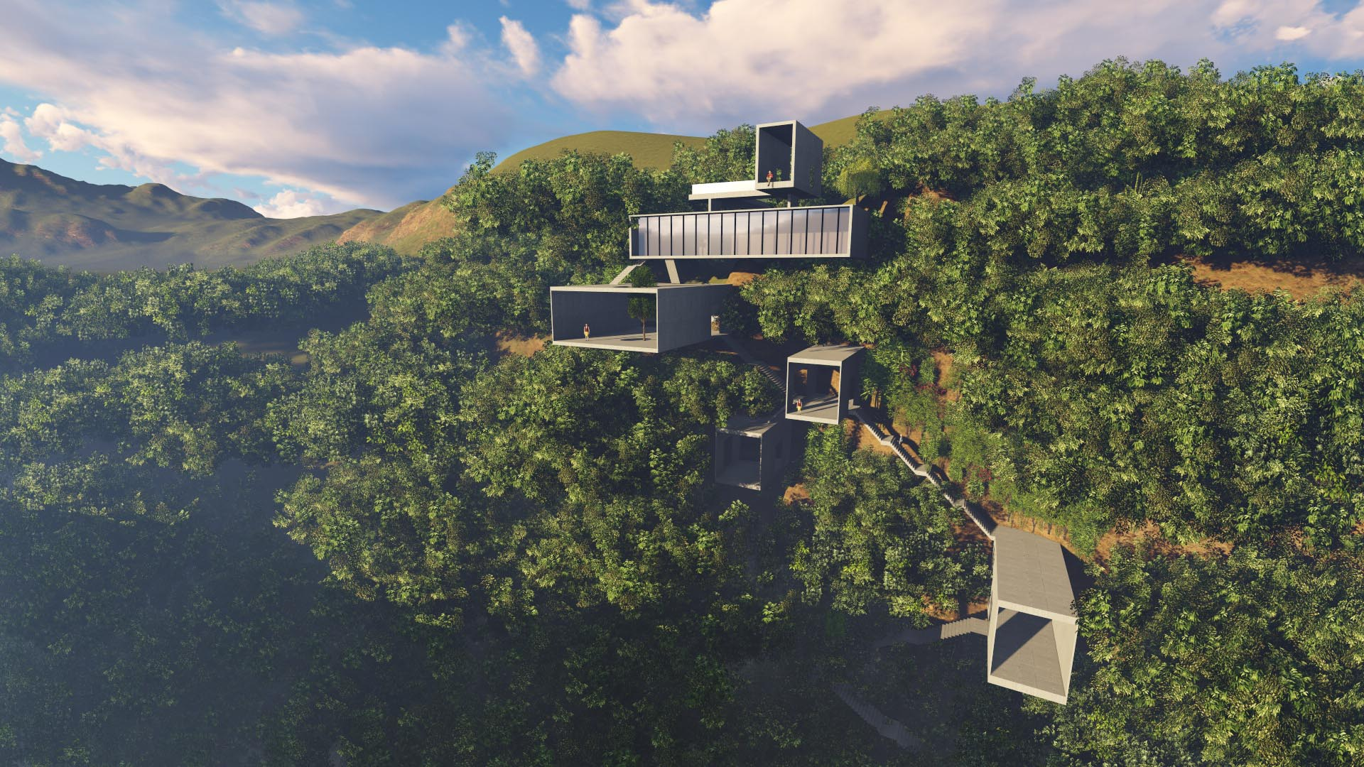 Chongqing Cliff Restaurant Architecture 事建组